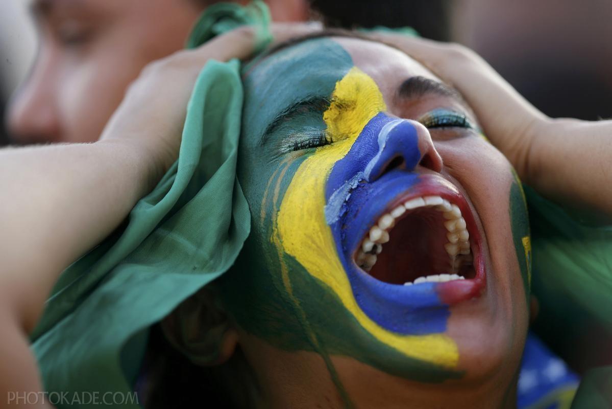 ناراحتی تماشاگران برزیلی برای حذف برزیل