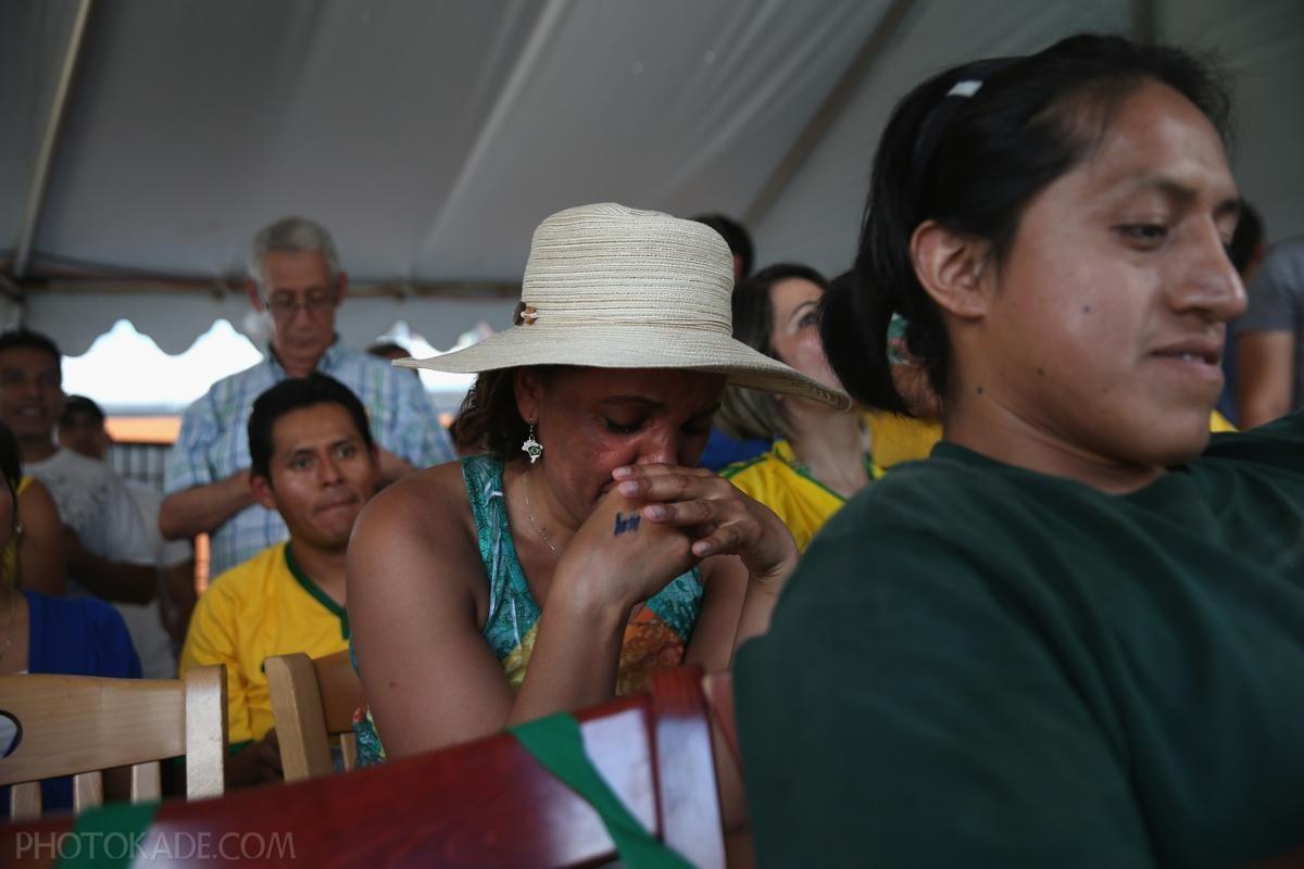 گریه زن برزیلی در بازی المان و برزیل در جام جهانی 2014