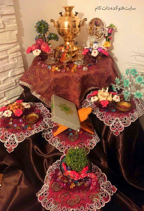 تزیین هفت سین عید نوروز 96 با طرح آبشاری و فنجان زیبا