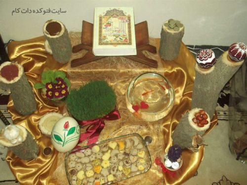 عکس تزیین هفت سین عید نوروز 96 با طرح آبشاری و فنجان زیبا