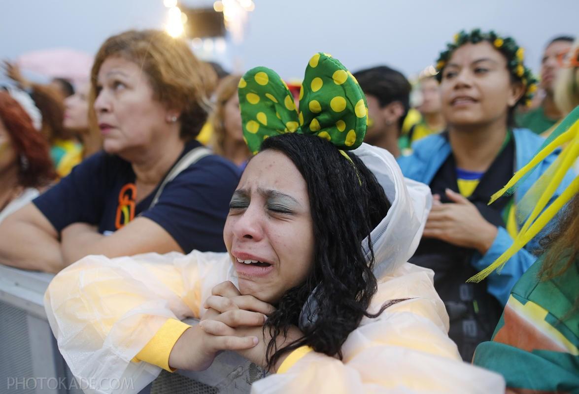 گری دختر طرفدار برزیلی در جام جهانی