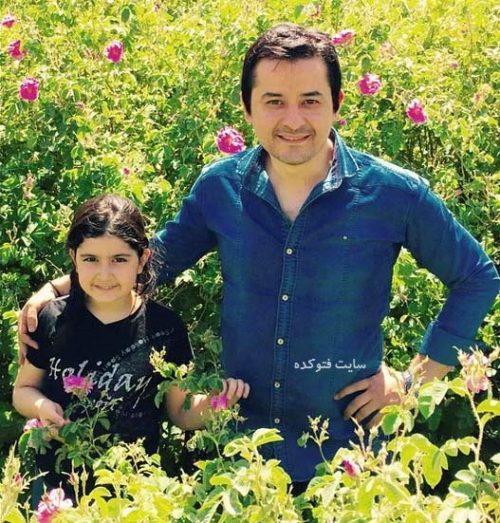 عکس افشین ذی نوری و دخترش تینا