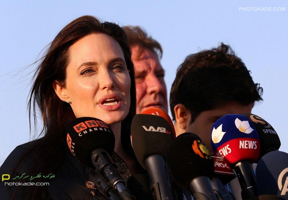 عکس های آنجلینا جولی در عراق 2015,آنجلینا جولی در عراق سال 2015,بازدید سر زده آنجلینا جولی از عراق,عکس دیدار آنجلینا جولی با مردم کرستان عراق,عکسهای آنجلینا در عراق