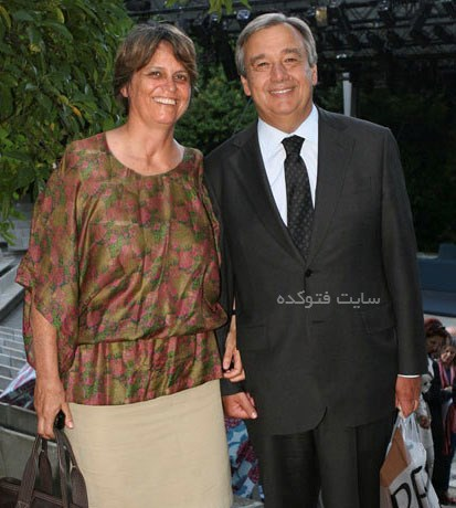 عکس آنتونیو گوترش و همسر دومش