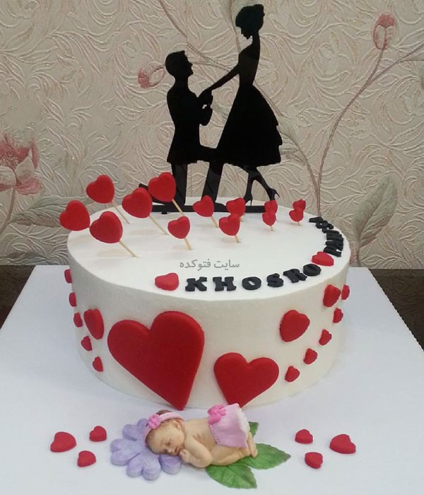 کیک های خاص با قلب برای سالگرد ازدواج