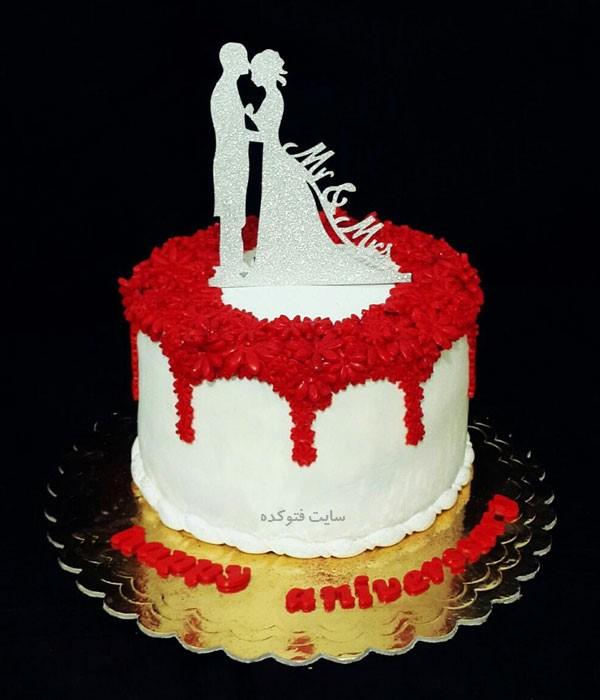 مدل کیک های سالگرد ازدواجمون با تزیین قلب