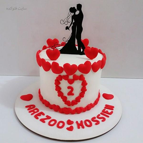 مدل کیک تبریک سالگرد ازدواج