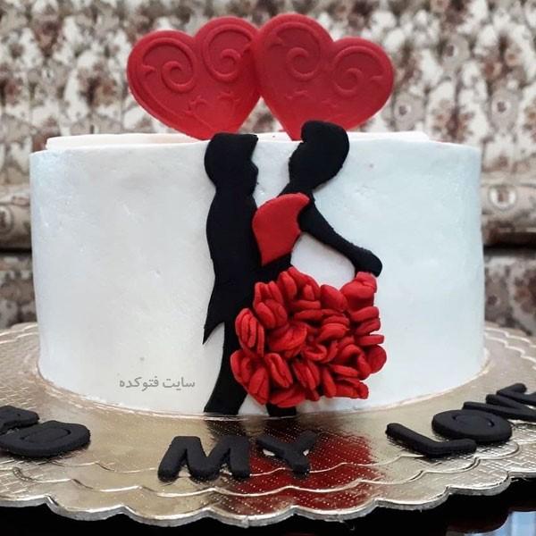کیک عاشقانه سالگرد ازدواج