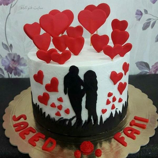 مدل کیک عاشقانه سالگرد ازدواج