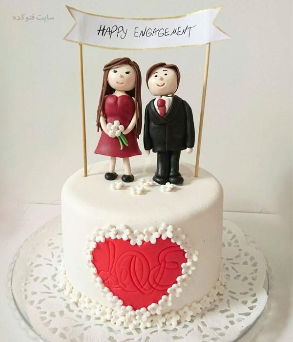 کیک سالگرد ازدواج عاشقانه