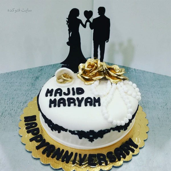 عکس تزیین کیک واسه سالگرد ازدواج