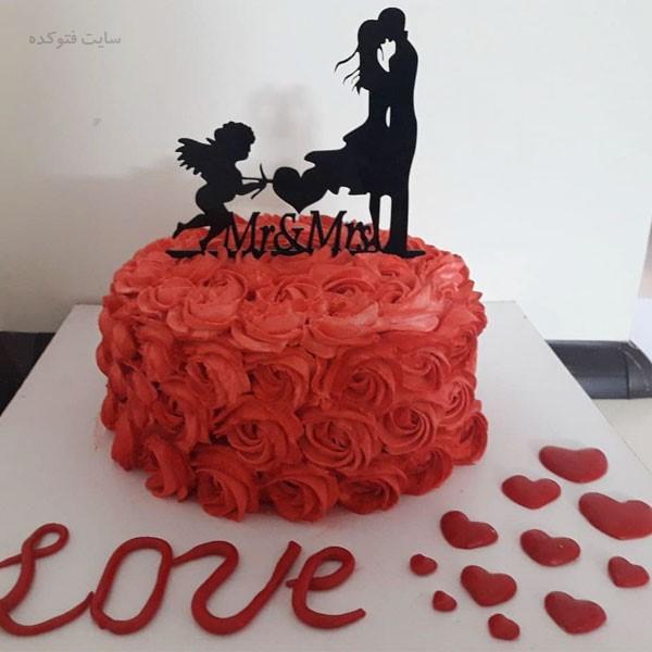عکسهای کیک رمانتیک برای سالگرد ازدواج