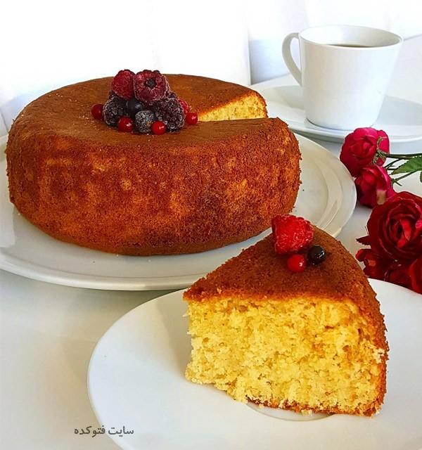 طرز تهیه کیک شیر بدون فر