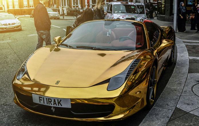 عکس های ماشین فراری طلایی,ماشین فراری,ماشین فراری طلایی رنگ,عکس ماشین ferrari,عکس ماشین فراری کمیاب,عکس ماشین,عکس ماشین فراری 458 اسپایدر,ferrari 458 spider
