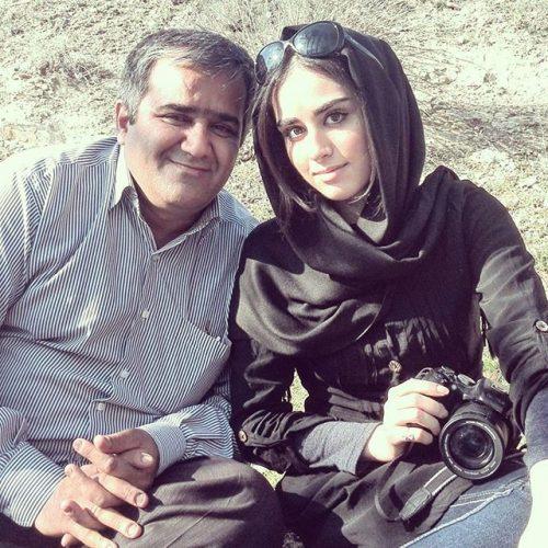 عکس هانیه غلامی و پدرش همسرش لادن سلیمانی