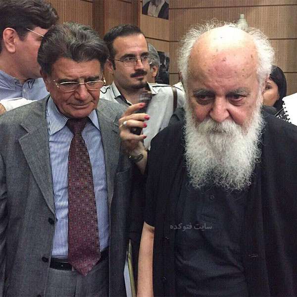 عکس هوشنگ ابتهاج و محمدرضا شجریان