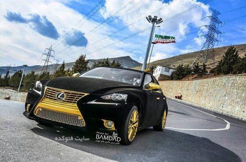 Lexus IS250 با روکش مخمل