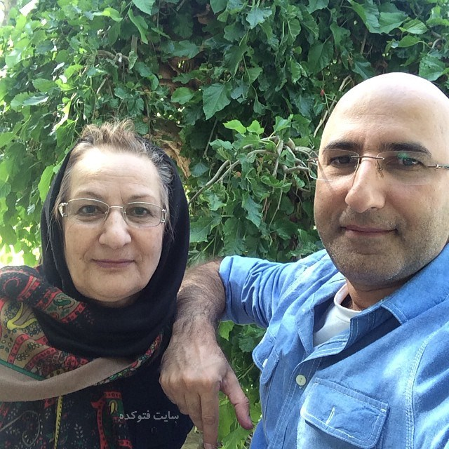 عکس منصور ضابطیان و مادرش + بیوگرافی
