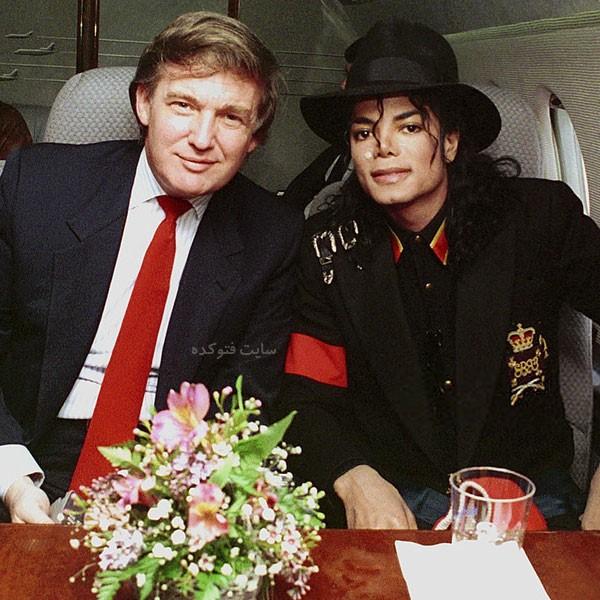 عکس های مایکل جکسون و دونالد ترامپ + بیوگرافی کامل