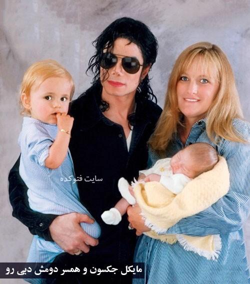 عکس همسر دوم مایکل جکسون و فرزندانش