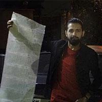 خودنمایی بازیگر مشهور ایرانی با خلافی ماشینش !