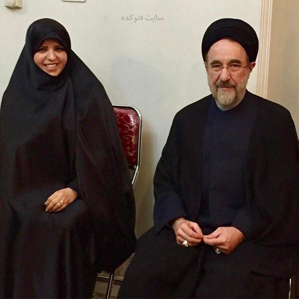 عکس های نعیمه اشراقی و سید محمد خاتمی + بیوگرافی