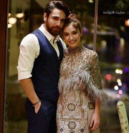 عکس اکیا و همسرش
