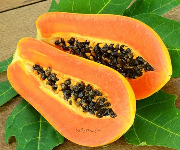 خواص میوه پاپایا در بارداری قاعدگی زنان کاهش وزن قلب و سلامتی