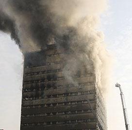 فرو ریختن ساختمان پلاسکو + فیلم ویدیو و علت آتش سوزی