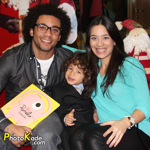 عکس مارسلو ویرا و همسرش کلاریس آلوز به همراه پسرش انزو