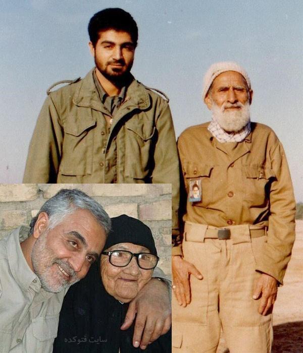 عکس های حاج قاسم سلیمانی و پدر و مادرش بیوگرافی سردار قاسم سلیمانی و همسرش + داستان زندگی