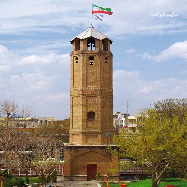 برج یانقین از جاذبه های گردشگری تبریز