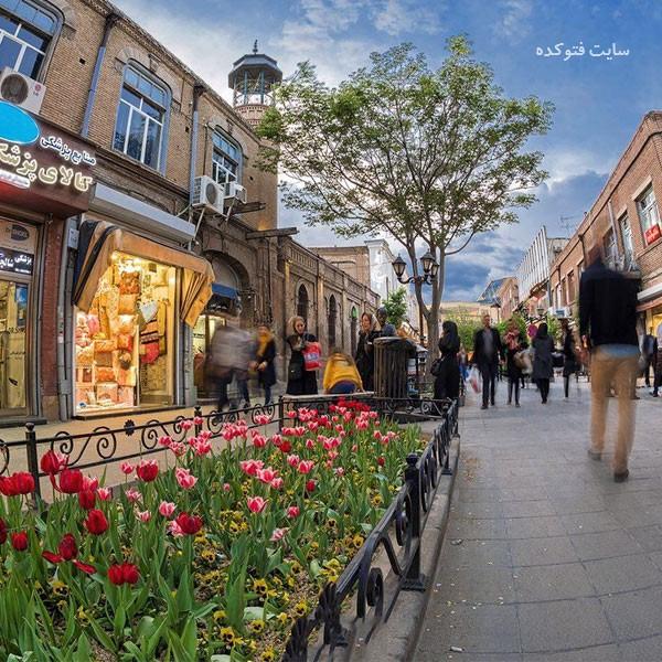 بازار تربیت از جاذبه های گردشگری تبریز