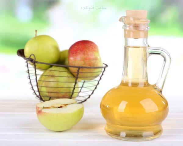 درمان تورم بی دلیل لب با سرکه سیب