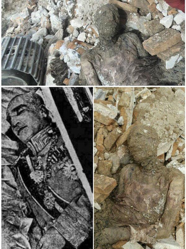 عکسر منتشر شده از مومیایی رضا شاه در شهر ری
