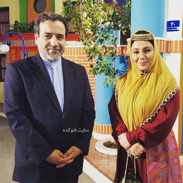 سیدعباس عراقچی در کنار بهنوش بختیاری بازیگر زن