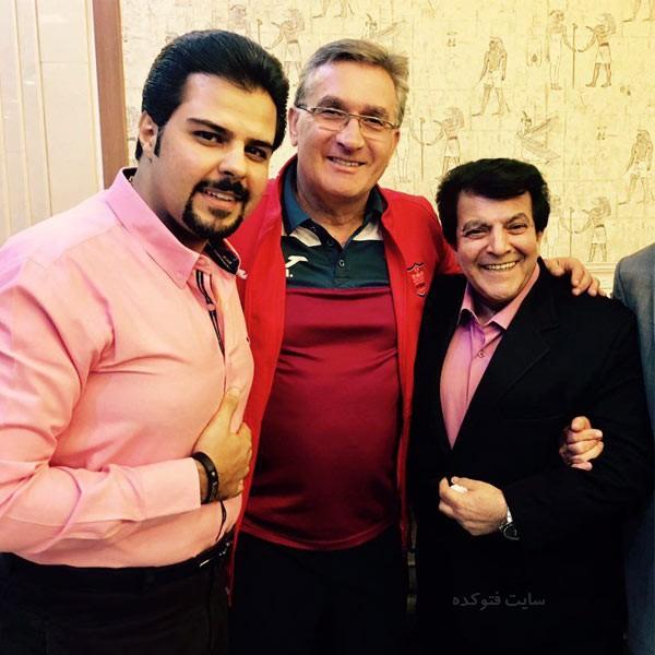 عباس قادری خواننده در کنار برانکو و پسرش