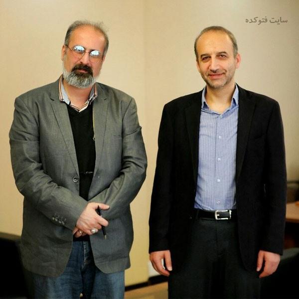 عبدالرضا داوری در کنار محمد سرافراز