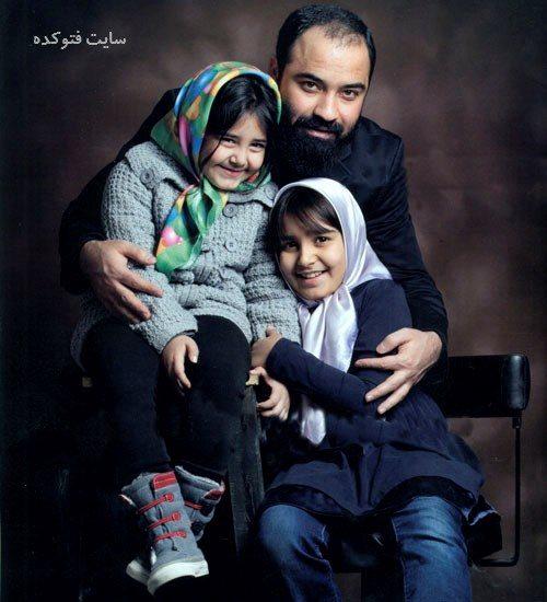 عکس عبدالرضا هلالی و دخترانش + زندگی شخصی و همسرش