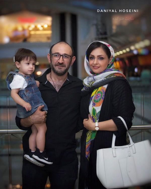 عکس بازیگران در آذر 97 هدایت هاشمی و همسرش
