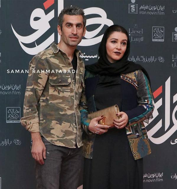 عکس لو رفته مجتبی جباری و همسرش
