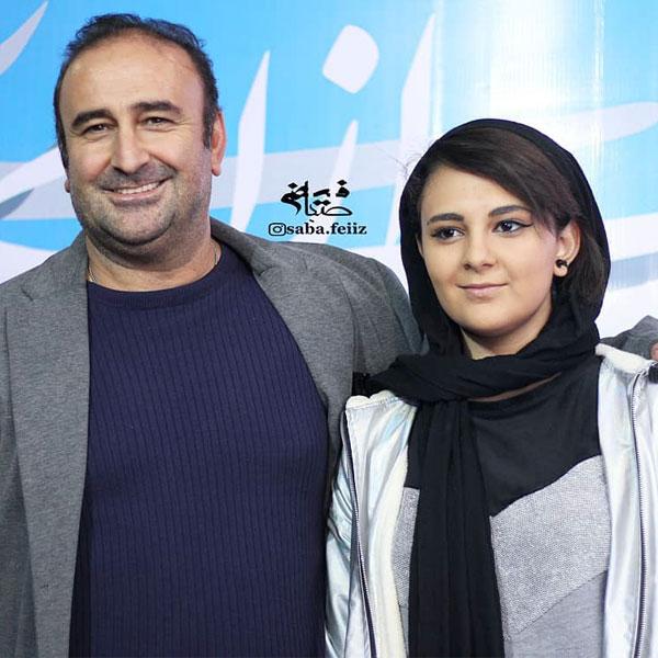 عکس خانوادگی بازیگران سال 98 مهران احمدی و دخترش
