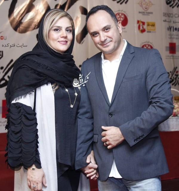 احسان کرمی و همسرش در عکس خانوادگی بازیگران سال 98