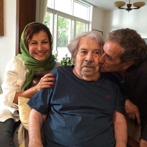 عکس محمود بصیری کنار داوود رشیدی و دخترش لیلی رشیدی
