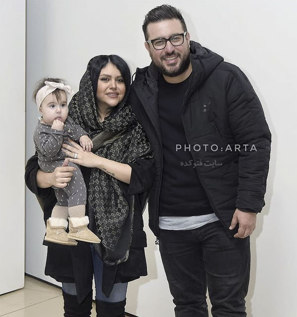 عکس بازیگران مرد 97 محسن کیایی و همسرش