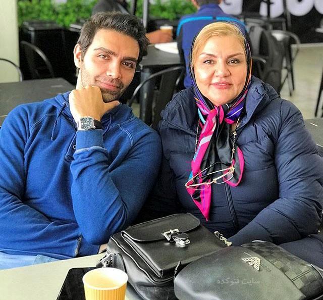 عکس شهاب شادابی و مادرش