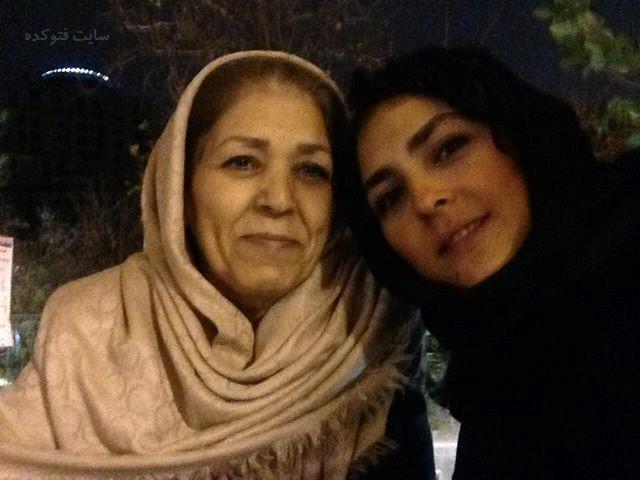 عکس هدی زین العابدینی و مادرش