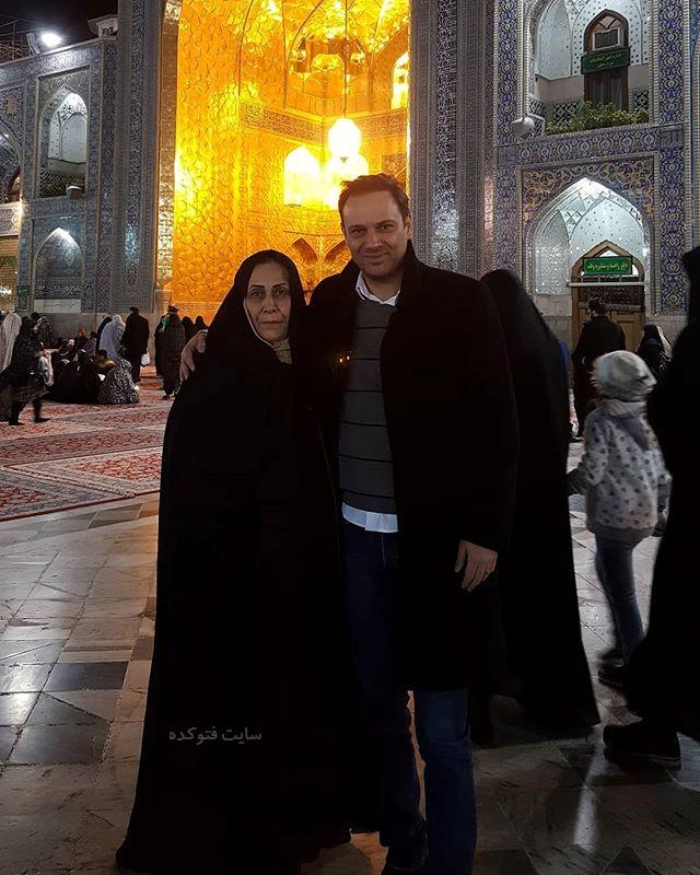 عکس شهروز ابراهیمی و مادرش