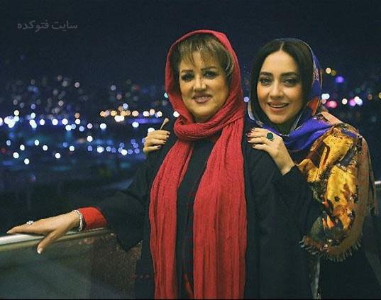 عکس بهاره کیان افشار و مادرش
