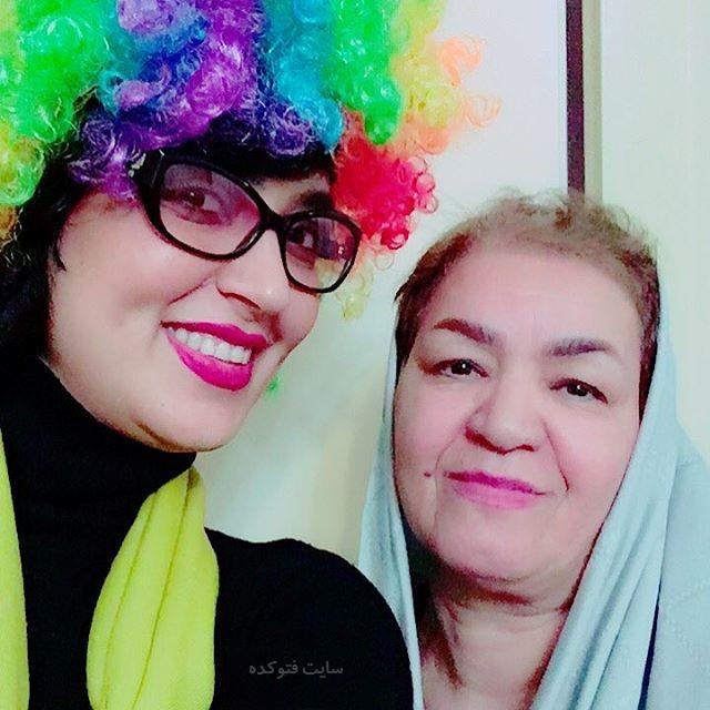 عکس فریبا طالبی و مادرش